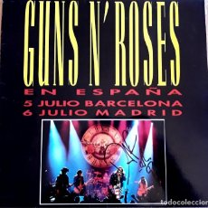 Discos de vinilo: MAXI SINGLE GUNS N ROSES FIRMADO POR DUFF. Lote 159145822