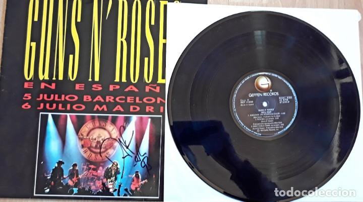 Discos de vinilo: MAXI SINGLE GUNS N ROSES FIRMADO POR DUFF - Foto 2 - 159145822