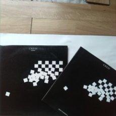 Discos de vinilo: CHESS AJEDREZ MUSICAL CON MIEMBROS DE ABBA MURRAY HEAD INCLUYE UN LIBRO. Lote 159160802