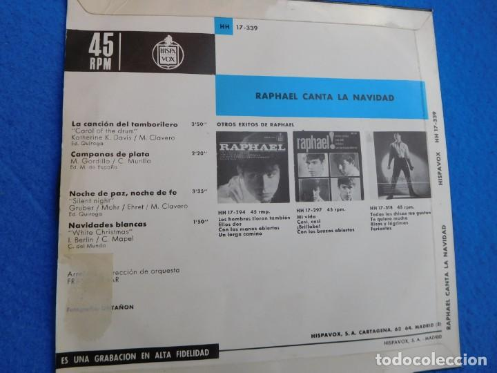 Discos de vinilo: Vinilo grabado por Raphael en su inicio, principio de los 60, muy buscado por coleccionistas. - Foto 2 - 159161090