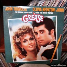 Discos de vinilo: GREASE - JHON TRAVOLTA Y OLIVIA NEWTON JOHN - DOBLE LP. Lote 159179098