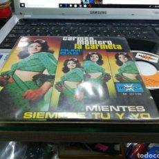 Discos de vinilo: CARMEN MONTERO LA CARMETA SINGLE MIENTES 1971. Lote 159222512