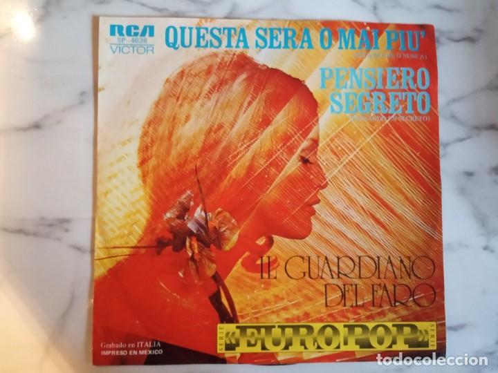 IL GUARDIANO DEL FARO PENSIERO SEGRETO / QUESTA SERA O MAI PIU SOUND TRACK 1976 ORIGINAL MEXICO NM (Música - Discos - Singles Vinilo - Bandas Sonoras y Actores)