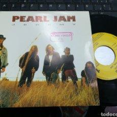 Discos de vinilo: PEARL JAM SINGLE PROMOCIONAL POR UNA SOLA CARA JEREMY ESPAÑA 1992. Lote 159241660