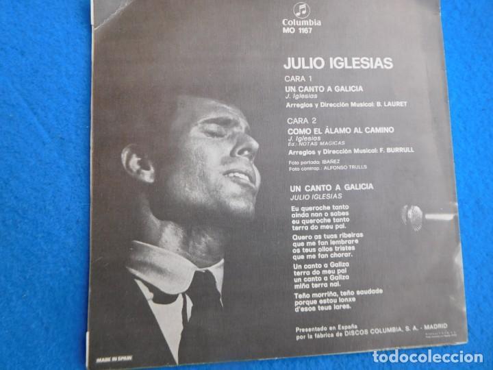 Discos de vinilo: Vinilo grabado por Julio Iglesias, principio de los 60, 4 canciones - Foto 2 - 159262890