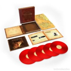 Discos de vinilo: LORD OF THE RINGS - FELLOWSHIP OF THE RING VINILO ROJO 5LP BOX SET PRECINTADO. Lote 159268614