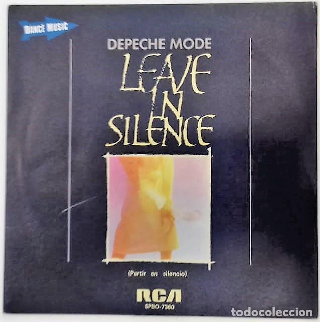 DEPECHE MODE - LEAVE IN SILENCE = PARTIR EN SILENCIO SG PROMO ED. ESPAÑOLA 1982 (Música - Discos - Singles Vinilo - Electrónica, Avantgarde y Experimental)