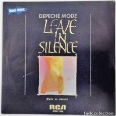 Discos de vinilo - DEPECHE MODE - LEAVE IN SILENCE = PARTIR EN SILENCIO SG PROMO ED. ESPAÑOLA 1982 - 159269426