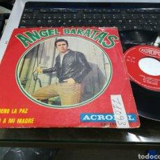 Discos de vinilo: ANGEL BARATAS SINGLE PREFIERO LA PAZ ACROPOL 1970. Lote 159271382
