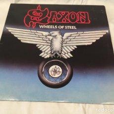 Discos de vinilo: SAXON -WHEELS OF STEEL- (1980) LP DISCO VINILO. Lote 159274322