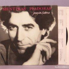 Discos de vinilo: LP. JOAQUIN SABINA. MENTIRAS PIADOSAS. Lote 159276598