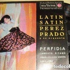 Discos de vinilo: PEREZ PRADO Y SU ORQUESTA– LATIN SATIN - EP SPAIN 1962. Lote 159279306