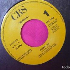 Discos de vinilo: WARRANT -- CHERRY PIE, PROMOCIONAL DE UNA CARA,CBS, 1990.. Lote 159290690