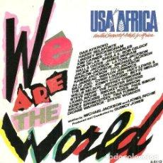 Discos de vinilo: S174 - USA FOR AFRICA. WE ARE THE WORLD (MICHAEL JACKSON). SINGLE. VINILO.. Lote 159299518