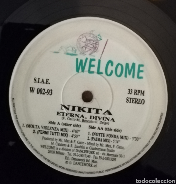Discos de vinilo: Nikita - Eterna divina - Foto 3 - 159300518