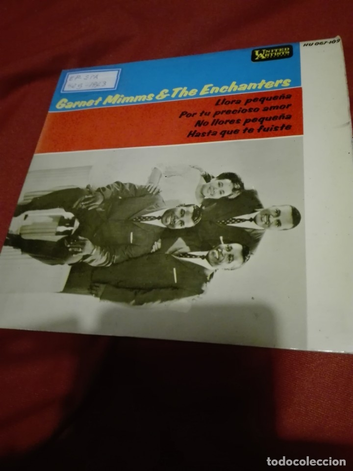 GARNET MIMMS AND THE ENCHANTERS- LLORA PEQUEÑA ( CRY BABY ) + 3 - EP SPAIN 1963 VER FOTO (Música - Discos de Vinilo - EPs - Jazz, Jazz-Rock, Blues y R&B)