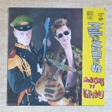 Discos de vinilo: MUÑEKAS DE VALLEKAS - LOS MILLONARIOS - 1989 - LP VINILO A ESTRENAR SIN USO. Lote 159357817