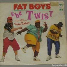 Discos de vinil: FAT BOYS - THE TWIST (TWO VERSIONS) (SINGLE ESPAÑOL, POLYDOR 1988). Lote 159386450