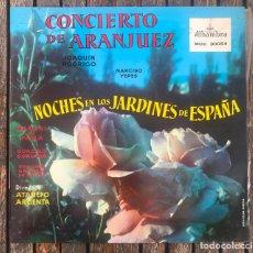 Discos de vinilo: CONCIERTO DE ARANJUEZ. JOAQUÍN RODRIGO Y NARCISO YEPES. ORQUESTA NACIONAL DE ESPAÑA. DIRIGE ARGENTA. Lote 159390470