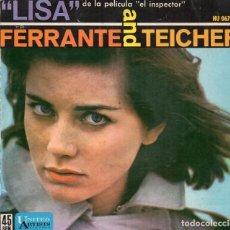 Discos de vinilo: EP 1962 - FERRANTE AND TEICHER - LISA (DE LA PELÍCULA EL INSPECTOR). Lote 159394178