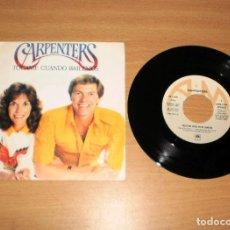 Discos de vinilo: CARPENTERS (TOUCH ME WHEN WE'RE DANCING). VINILO SG 45. A&M RECORDS AMS 9154. AÑO 1981. Lote 159395238