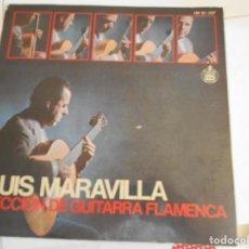 Discos de vinilo: LUIS MARAVILLA-LP LECCIONES DE GUITARRA FLAMENCA-CONT.LIBRETO CON 40 PAG.CON PARTITURAS. Lote 159401318