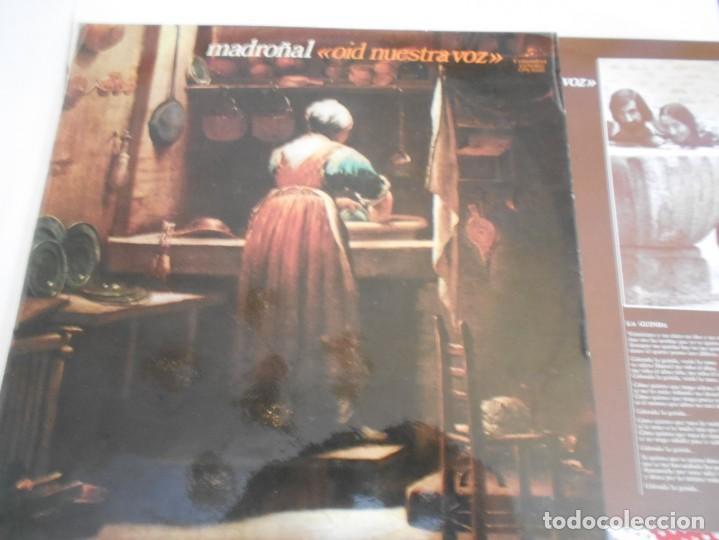 MADROÑAL-LP OID NUESTRA VOZ-ENCARTE LETRAS-NUEVO (Música - Discos - LP Vinilo - Country y Folk)