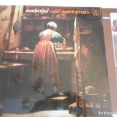 Discos de vinilo: MADROÑAL-LP OID NUESTRA VOZ-ENCARTE LETRAS-NUEVO. Lote 159401894