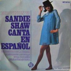 Discos de vinilo: SANDIE SHAW – CANTA EN ESPAÑOL - EUROVISION '67 , PYE RECORDS – HPY 337-35, HISPAVOX – HPY 337-35. Lote 159410822