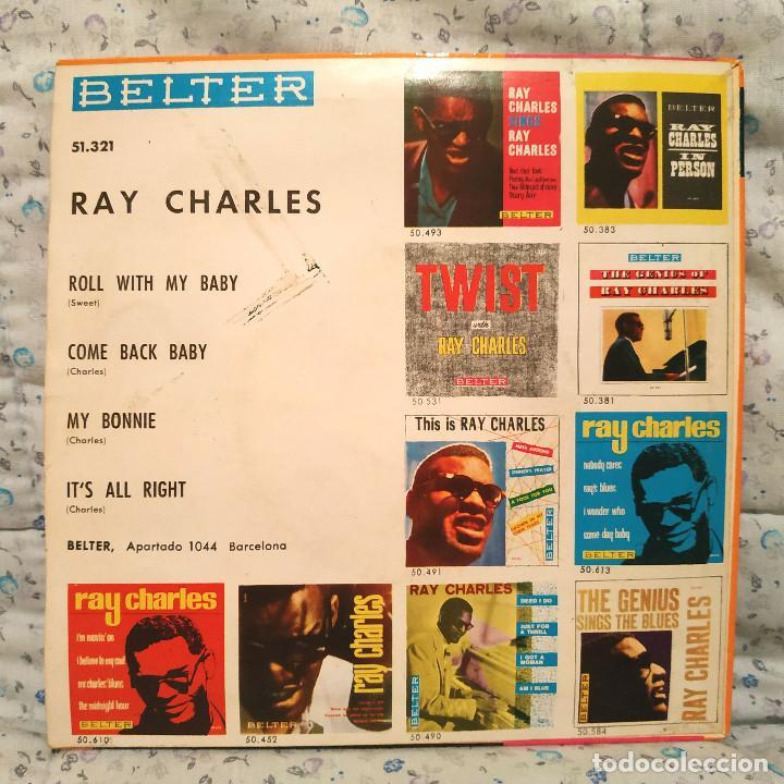 Discos de vinilo: RAY CHARLES - ROLL WITH MY BABY / MY BONNIE + 3 SPAIN EP BELTER 51.321 AÑO 1963 EXCELENTE ESTADO - Foto 2 - 159453658