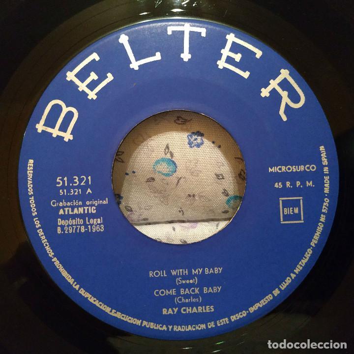 Discos de vinilo: RAY CHARLES - ROLL WITH MY BABY / MY BONNIE + 3 SPAIN EP BELTER 51.321 AÑO 1963 EXCELENTE ESTADO - Foto 3 - 159453658
