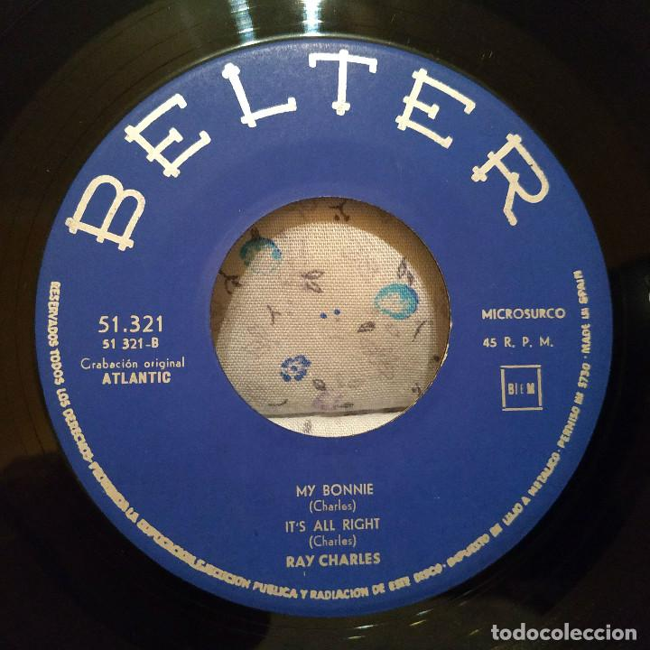 Discos de vinilo: RAY CHARLES - ROLL WITH MY BABY / MY BONNIE + 3 SPAIN EP BELTER 51.321 AÑO 1963 EXCELENTE ESTADO - Foto 4 - 159453658