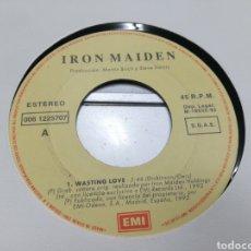 Discos de vinilo: IRON MAIDEN SINGLE PROMOCIONAL WASTING LOVE 1992 EN PERFECTO ESTADO. Lote 159508070