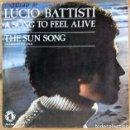 Discos de vinilo: LUCIO BATTISTI - A SONG TO FEEL ALIVE / THE SUN SG PROMO ED ESPAÑOLA 1978. Lote 159512710