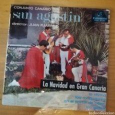 Discos de vinilo: CONJUNTO CANARIO SAN AGUSTÍN. LA NAVIDAD EN GRAN CANARIA - LO DIVINO + 3. Lote 159517718