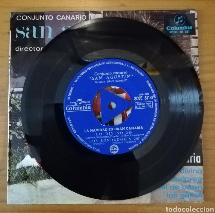Discos de vinilo: Conjunto canario San Agustín. La Navidad en Gran Canaria - Lo divino + 3 - Foto 2 - 159517718