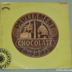 Discos de vinilo: PARLIAMENT - CHOCOLATE CITY - EMI-ODEON 1975 SPAIN. Lote 194974595
