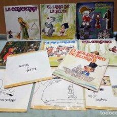Discos de vinilo: DISCOS SINGLES DE CUENTOS INFANTILES. COLECCIÓN DE 11 DISCOS. AÑOS 70. Lote 159521026