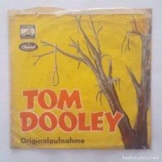 Disques de vinyle: SINGLE / DIE NILSEN BROTHERS / TOM DOOLEY ORIGINALAUFNAHME - WENN / 1959 ALEMANIA. Lote 159534542