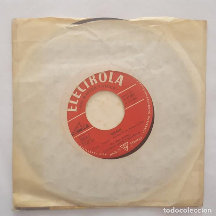 Discos de vinilo: SINGLE / DIE NILSEN BROTHERS / TOM DOOLEY ORIGINALAUFNAHME - WENN / 1959 ALEMANIA - Foto 2 - 159534542