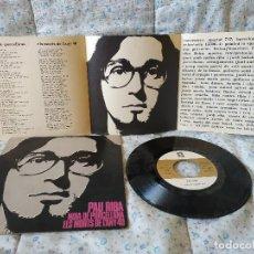 Discos de vinilo: PAU RIBA - NOIA DE PORCELLANA + 1 SINGLE 1968 CONCENTRIC 45.706-A + INSERTO - IMPECABLE . Lote 159536450