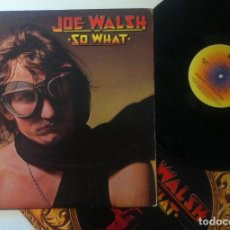 Discos de vinilo: JOE WALSH - SO WHAT - LPORIGINAL USA 1974 (LETRAS EN RELIEVE) CON ENCARTE - ABC DUNHILL. Lote 159537910