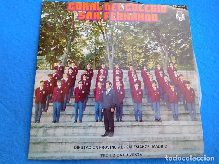 VINILO GRABADO POR LA CORAL DEL COLEGIO DE SAN FERNANDO DE MADRID, EN LA DÉCADA DE LOS AÑOS 60. (Música - Discos - Singles Vinilo - Grupos Españoles 50 y 60)