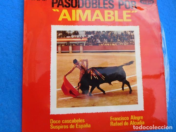 VINILO GRABADO POR AIMABLE, 1963 (12 CASCABELES, SUSPIROS DE ESPAÑA, FRANCISCO ALEGRE, R. ALCUDIA) (Música - Discos - Singles Vinilo - Solistas Españoles de los 50 y 60)
