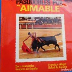 Discos de vinilo: VINILO GRABADO POR AIMABLE, 1963 (12 CASCABELES, SUSPIROS DE ESPAÑA, FRANCISCO ALEGRE, R. ALCUDIA). Lote 159543250