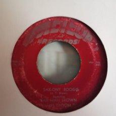 Discos de vinilo: SAX MAN BROWN SAX-ONY BOOGIE / DUMB WOMAN BLUES ROCKIN R'N'B BLUES ORIGINAL USA RARO 1954 G+. Lote 159544638