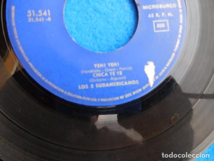 VINILO GRABADO POR LOS TRES SUDAMERICANOS, 1965, MI CHICA YE YE... (Música - Discos - Singles Vinilo - Grupos y Solistas de latinoamérica)