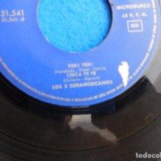 Discos de vinilo: VINILO GRABADO POR LOS TRES SUDAMERICANOS, 1965, MI CHICA YE YE.... Lote 159546894