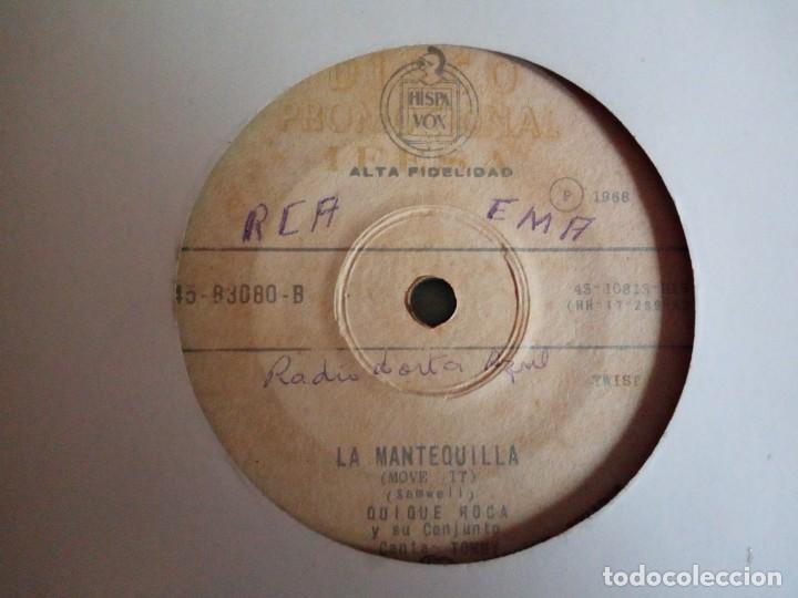 QUIQUE ROCA LA MANTEQUILLA /ROGARÉ R'N'R CLIFF RICHARD MOVE IT ORIGINAL ECUADOR 196? MUY RARO VG/VG- (Música - Discos - Singles Vinilo - Rock & Roll)