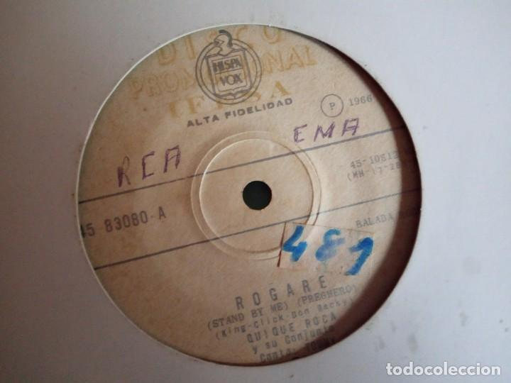 Discos de vinilo: QUIQUE ROCA LA MANTEQUILLA /ROGARÉ RNR CLIFF RICHARD MOVE IT ORIGINAL ECUADOR 196? MUY RARO VG/VG- - Foto 2 - 159549614